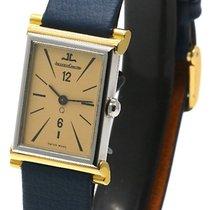 Jaeger-LeCoultre Vintage Steel & 18k Gold Rectangular Dress Watch
