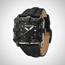 Police PL.93404AEU/02A Men's Black Strap Watch