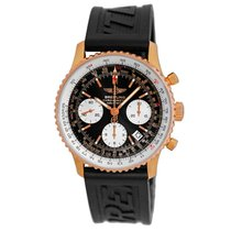 Breitling Rose gold Automatic Black 42mm pre-owned Navitimer