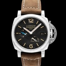 Panerai Luminor 1950 3 Days GMT Power Reserve Automatic Aço Preto