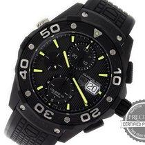 571e667cfcce TAG Heuer Titanium Automatic Black No numerals 44mm pre-owned Aquaracer 500M