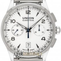 Union Glashütte Noramis Chronograph Stal 42,00mm Srebrny