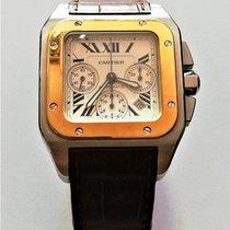 Cartier Santos 100 usado 38mm Ouro/Aço