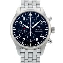 IWC Pilot Chronograph pre-owned 43mm Black Date Steel
