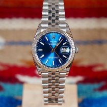 Rolex Datejust Stahl 36mm Blau Schweiz, Genève et Paris