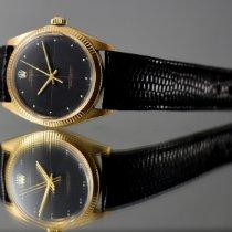 Rolex Oyster Perpetual 34 Gult guld 34mm Sort Ingen tal