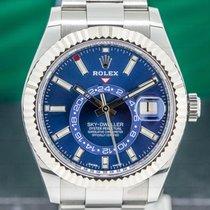 Rolex Sky-Dweller Acier 42mm Bleu Arabes