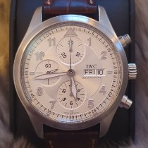 IWC Pilot Spitfire Chronograph pre-owned 42mm White Chronograph Date Weekday