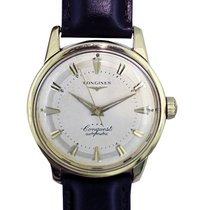 Longines Yellow gold Champagne 35mm pre-owned Conquest