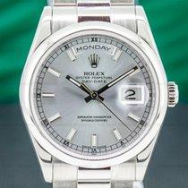 Rolex Day-Date 36 Platinum 36mm Blue Roman numerals