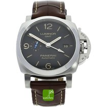 Panerai Luminor 1950 3 Days GMT Automatic Zeljezo 44mm Crn Bez brojeva