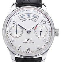 IWC Portugieser Annual Calendar Stahl 44mm Silber Arabisch Deutschland, Bietigheim-Bissingen