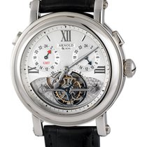 Arnold & Son GMT II 18K White Gold Tourbillon
