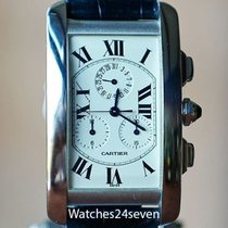 Cartier Tank Américaine Steel Roman numerals United States of America, Missouri, Chesterfield