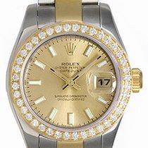Rolex Ladies Rolex 2-Tone Datejust Watch 179173 Champagne Dial