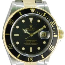 Rolex Submariner Date Two Tone 18kt YG/SS Black Dial - 16613