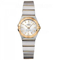 Omega Constellation  SS & Yellow Gold Ladies watch 123.20.24.6...