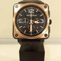 Bell & Ross Black Pvd & 18k Rose Gold Chronograph