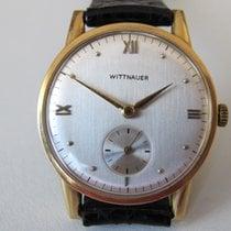 Wittnauer Gelbgold 32mm Handaufzug gebraucht