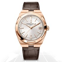 Vacheron Constantin Overseas Rose gold 41mm Silver No numerals