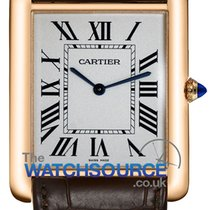 Cartier Rose gold Manual winding Silver Roman numerals 34.9mm new Tank Louis Cartier