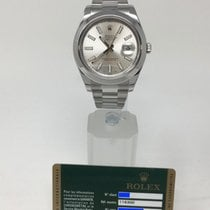 Rolex Datejust II Steel Silver Stick Oyster 116300 Like New 2018
