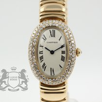 Cartier Baignoire gebraucht 22.6mm Gelbgold