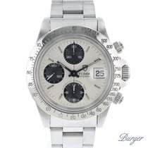 Tudor Chronograph 40mm Automatic pre-owned Oysterdate Big Block Silver
