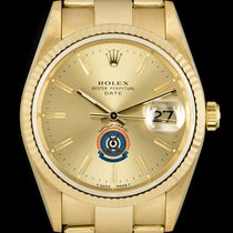 Rolex Oyster Perpetual Date Yellow gold 34mm Champagne No numerals United Kingdom, London