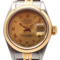 Rolex Oyster Perpetual Lady Date Or/Acier 26mm Or Romains