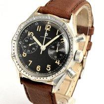 Junghans Chronograph 38mm Handaufzug gebraucht Schwarz