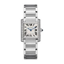 Cartier Tank Française Steel 25mm Silver Roman numerals United States of America, New York, New York