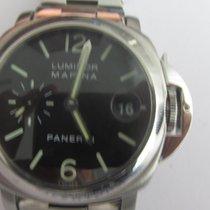 Panerai Luminor Marina Automatic occasion 40mm Noir Date panorama Date Acier