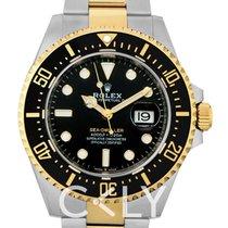 Rolex Yellow gold Automatic Black 43mm new Sea-Dweller