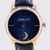 H.Moser & Cie. Endeavour Oro rosado 41mm Azul Sin cifras