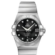 Omega Constellation Men Сталь 38mm Черный