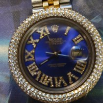 Rolex Pозовое золото Автоподзавод Синий Римские 36mm подержанные Datejust II