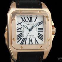 Cartier Santos 100 Pозовое золото 38.5mm Римские