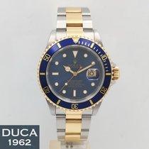 勞力士 Submariner Date 黃金 40mm 藍色 無數字