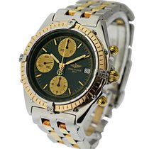 Breitling C13048_emerald_green Chronomat Mens Automatic 2 Tone...