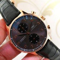 IWC Portuguese IW3714 18k Rose Gold Chronograph Men's Watch...