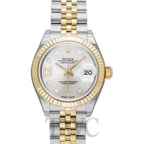 ロレックス (Rolex) Lady-Datejust 28 Silver Steel/18k Yellow Gold G...