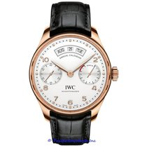 IWC Rose gold Automatic Silver Arabic numerals 44mm new Portuguese Annual Calendar