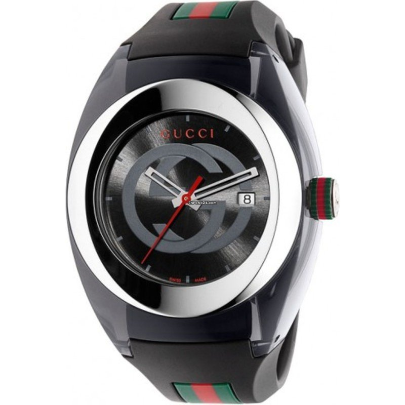 e105220d1ad Gucci Sync XXL Black Rubber Black Dial for  275 for sale from a Seller on  Chrono24