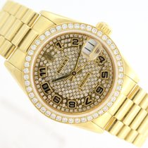Rolex Lady Datejust 18k Yellow Gold & Diamonds