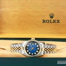 Rolex Lady Datejust Bicolor Jubilee Vignette Dial Blue 26 mm