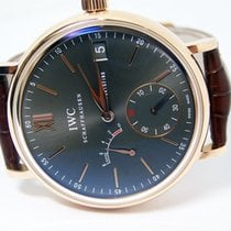 IWC Rose gold Manual winding Grey Roman numerals 45mm pre-owned Portofino Hand-Wound