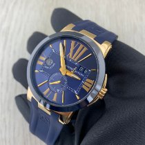 Ulysse Nardin Yellow gold Automatic Black Roman numerals 43mm new Executive Dual Time
