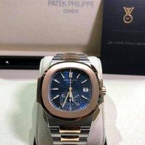 Patek Philippe Nautilus Gold/Steel 40.5mm Blue No numerals