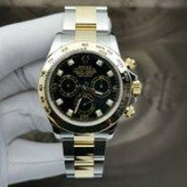 Rolex Daytona Χρυσός / Ατσάλι 40mm Μαύρο